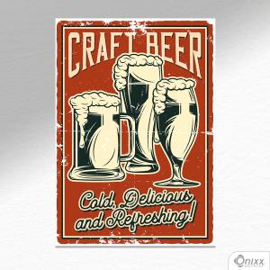 Placa Decorativa Craft Beer A4 MDF 3mm 30X20CM 4x0 Adesivo Fosco Corte Reto Fita Dupla Face 3M