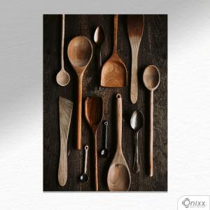 Placa Decorativa Craft Food Utensils A4 MDF 3mm 30X20CM 4x0 Adesivo Fosco Corte Reto Fita Dupla Face 3M