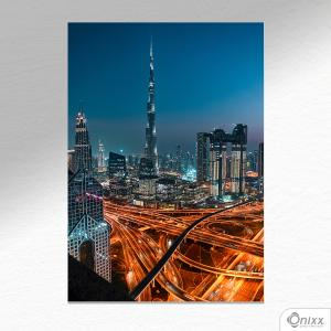 Placa Decorativa Dubai Lights A4 MDF 3mm 30X20CM 4x0 Adesivo Fosco Corte Reto Fita Dupla Face 3M