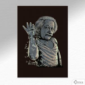 Placa Decorativa Einstein Bae A4 MDF 3mm 30X20CM 4x0 Adesivo Fosco Corte Reto Fita Dupla Face 3M