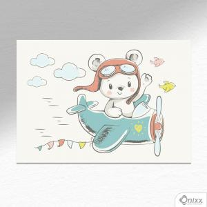 Placa Decorativa Fly Bear A4 MDF 3mm 30X20CM 4x0 Adesivo Fosco Corte Reto Fita Dupla Face 3M