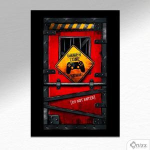 Placa Decorativa Gamer Zone A4 MDF 3mm 30X20CM 4x0 Adesivo Fosco Corte Reto Fita Dupla Face 3M