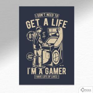 Placa Decorativa I Am A Gamer A4 MDF 3mm 30X20CM 4x0 Adesivo Fosco Corte Reto Fita Dupla Face 3M