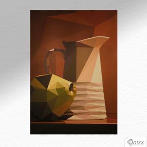 Placa Decorativa Jarra Cubismo Morto A4 MDF 3mm 30X20CM 4x0 Adesivo Fosco Corte Reto Fita Dupla Face 3M