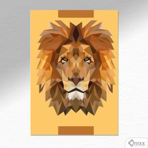 Placa Decorativa Lion A4 MDF 3mm 30X20CM 4x0 Adesivo Fosco Corte Reto Fita Dupla Face 3M