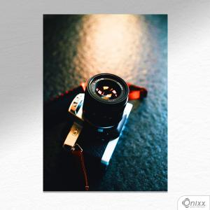Placa Decorativa Máquina Fotográfica A4 MDF 3mm 30X20CM 4x0 Adesivo Fosco Corte Reto Fita Dupla Face 3M