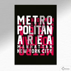 Placa Decorativa Metropolitan NY A4 MDF 3mm 30X20CM 4x0 Adesivo Fosco Corte Reto Fita Dupla Face 3M