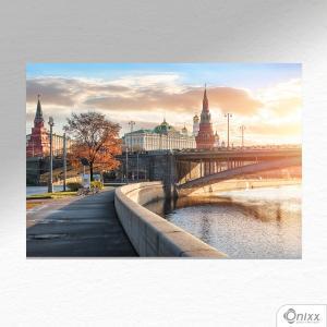 Placa Decorativa Moscow Kremlin A4 MDF 3mm 30X20CM 4x0 Adesivo Fosco Corte Reto Fita Dupla Face 3M