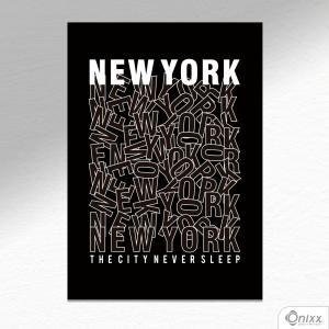 Placa Decorativa New York City A4 MDF 3mm 30X20CM 4x0 Adesivo Fosco Corte Reto Fita Dupla Face 3M