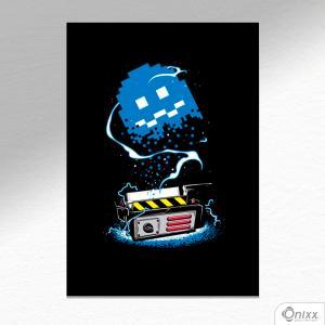 Placa Decorativa Pacman Ghostbusters A4 MDF 3mm 30X20CM 4x0 Adesivo Fosco Corte Reto Fita Dupla Face 3M