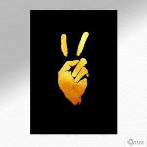 Placa Decorativa Paz E Amor A4 MDF 3mm 30X20CM 4x0 Adesivo Fosco Corte Reto Fita Dupla Face 3M