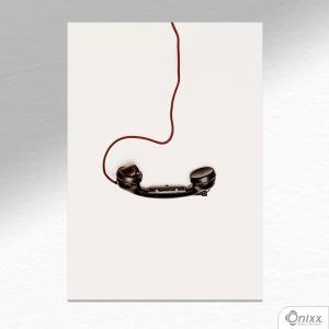 Placa Decorativa Phone A4 MDF 3mm 30X20CM 4x0 Adesivo Fosco Corte Reto Fita Dupla Face 3M