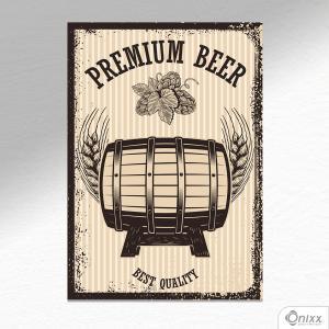 Placa Decorativa Premium Beer A4 MDF 3mm 30X20CM 4x0 Adesivo Fosco Corte Reto Fita Dupla Face 3M