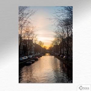 Placa Decorativa River In South Eastern Amsterdam A4 MDF 3mm 30X20CM 4x0 Adesivo Fosco Corte Reto Fita Dupla Face 3M
