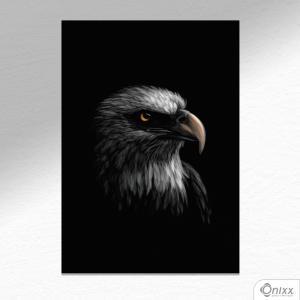 Placa Decorativa Série Animais Black ( Águia ) A4 MDF 3mm 30X20CM 4x0 Adesivo Fosco Corte Reto Fita Dupla Face 3M