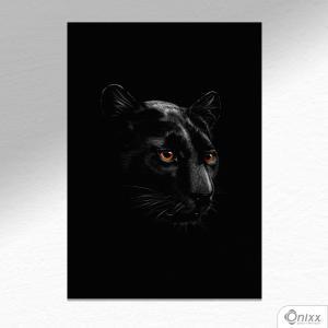 Placa Decorativa Série Animais Black ( Pantera ) A4 MDF 3mm 30X20CM 4x0 Adesivo Fosco Corte Reto Fita Dupla Face 3M