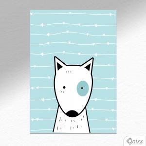 Placa Decorativa Série Animais Fofos ( Cachorro ) A4 MDF 3mm 30X20CM 4x0 Adesivo Fosco Corte Reto Fita Dupla Face 3M