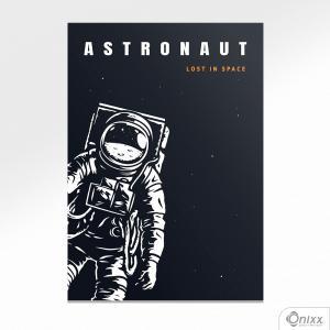Placa Decorativa Série Lost In Space ( Astronaut ) A4 MDF 3mm 30X20CM 4x0 Adesivo Fosco Corte Reto Fita Dupla Face 3M