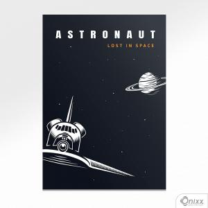 Placa Decorativa Série Lost In Space ( Astronaut Ship ) A4 MDF 3mm 30X20CM 4x0 Adesivo Fosco Corte Reto Fita Dupla Face 3M