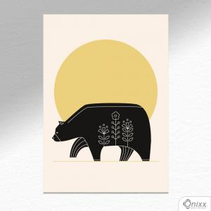 Placa Decorativa Série Natureza Artística ( Bear ) A4 MDF 3mm 30X20CM 4x0 Adesivo Fosco Corte Reto Fita Dupla Face 3M