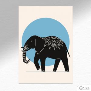 Placa Decorativa Série Natureza Artística ( Elephant ) A4 MDF 3mm 30X20CM 4x0 Adesivo Fosco Corte Reto Fita Dupla Face 3M