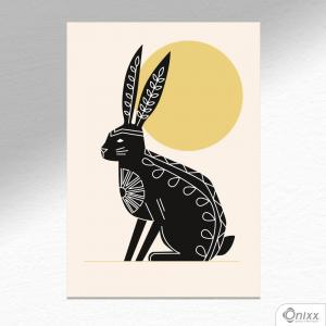 Placa Decorativa Série Natureza Artística ( Hare ) A4 MDF 3mm 30X20CM 4x0 Adesivo Fosco Corte Reto Fita Dupla Face 3M