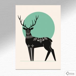 Placa Decorativa Série Natureza Artística ( Hart ) A4 MDF 3mm 30X20CM 4x0 Adesivo Fosco Corte Reto Fita Dupla Face 3M