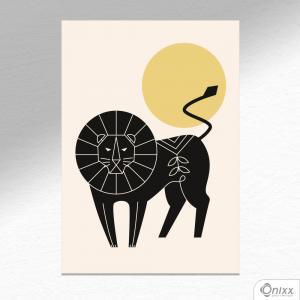 Placa Decorativa Série Natureza Artística ( Lion ) A4 MDF 3mm 30X20CM 4x0 Adesivo Fosco Corte Reto Fita Dupla Face 3M