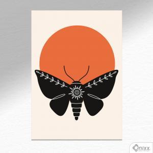 Placa Decorativa Série Natureza Artística ( Moth ) A4 MDF 3mm 30X20CM 4x0 Adesivo Fosco Corte Reto Fita Dupla Face 3M