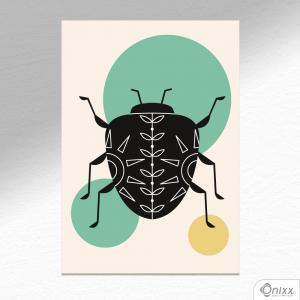 Placa Decorativa Série Natureza Artística ( Scarab ) A4 MDF 3mm 30X20CM 4x0 Adesivo Fosco Corte Reto Fita Dupla Face 3M