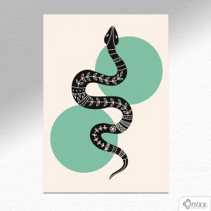 Placa Decorativa Série Natureza Artística ( Snake ) A4 MDF 3mm 30X20CM 4x0 Adesivo Fosco Corte Reto Fita Dupla Face 3M