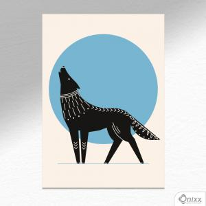 Placa Decorativa Série Natureza Artística ( Wolf ) A4 MDF 3mm 30X20CM 4x0 Adesivo Fosco Corte Reto Fita Dupla Face 3M