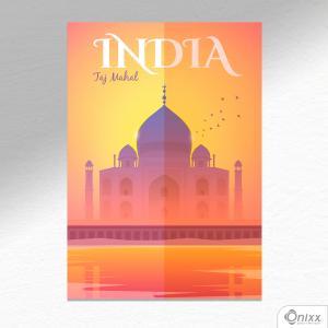 Placa Decorativa Série Pôster India A4 MDF 3mm 30X20CM 4x0 Adesivo Fosco Corte Reto Fita Dupla Face 3M