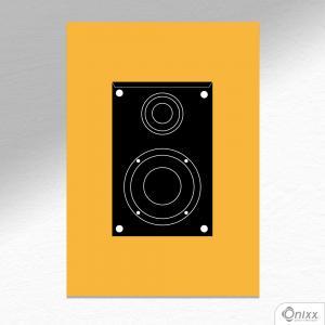 Placa Decorativa Série Sounds (Box Sounds ) A4 MDF 3mm 30X20CM 4x0 Adesivo Fosco Corte Reto Fita Dupla Face 3M