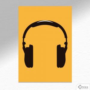 Placa Decorativa Série Sounds ( Fone ) A4 MDF 3mm 30X20CM 4x0 Adesivo Fosco Corte Reto Fita Dupla Face 3M