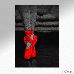 Placa Decorativa Sneaker Rouge A4 MDF 3mm 30X20CM 4x0 Adesivo Fosco Corte Reto Fita Dupla Face 3M