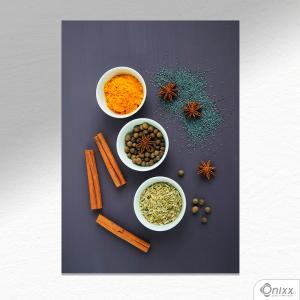 Placa Decorativa Texture Spices A4 MDF 3mm 30X20CM 4x0 Adesivo Fosco Corte Reto Fita Dupla Face 3M