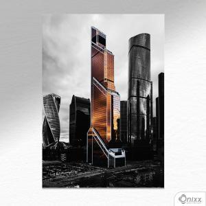 Placa Decorativa Towers Moscow A4 MDF 3mm 30X20CM 4x0 Adesivo Fosco Corte Reto Fita Dupla Face 3M