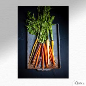Placa Decorativa Types Of Carrots A4 MDF 3mm 30X20CM 4x0 Adesivo Fosco Corte Reto Fita Dupla Face 3M