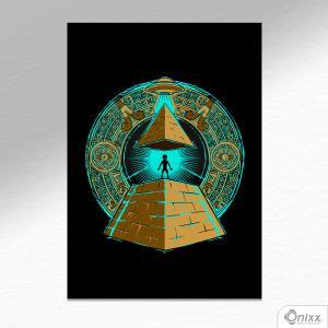 Placa Decorativa UFFO ILUMINATE A4 MDF 3mm 30X20CM 4x0 Adesivo Fosco Corte Reto Fita Dupla Face 3M