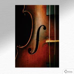 Placa Decorativa Violino A4 MDF 3mm 30X20CM 4x0 Adesivo Fosco Corte Reto Fita Dupla Face 3M