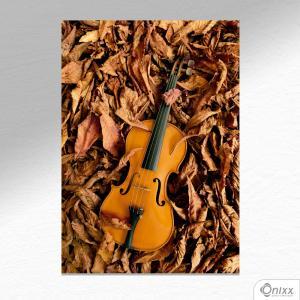 Placa Decorativa Violino Nas Folhas A4 MDF 3mm 30X20CM 4x0 Adesivo Fosco Corte Reto Fita Dupla Face 3M