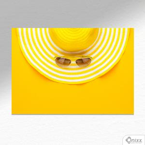 Placa Decorativa Yellow Vacation A4 MDF 3mm 30X20CM 4x0 Adesivo Fosco Corte Reto Fita Dupla Face 3M