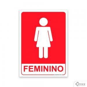 Placa Sanitário Feminino PVC 2mm  4/0 / Látex Adesivo Fosco Corte Reto Fita Dupla Face 3M