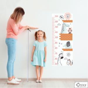 Régua de Crescimento Animais Im Happy Adesivo Vinil 0,10  4x0 | Impressão Digital - Látex Fosco Corte 100% Digital