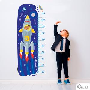 Régua de Crescimento Cachorro Astronauta Adesivo Vinil 0,10  4x0 | Impressão Digital - Látex Fosco Corte 100% Digital