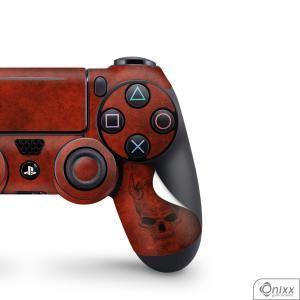 Skin Game Adesiva PS4 JOYSTICKS Evil Skull Adesivo Vinil Americano 10µ  4x0 Brilho Corte Eletrônico