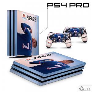 Skin Ps4 Pro Adesiva Fifa 22 + Pôster A3 Adesivo Vinil Americano 10µ  4x0 Brilho Corte Eletrônico