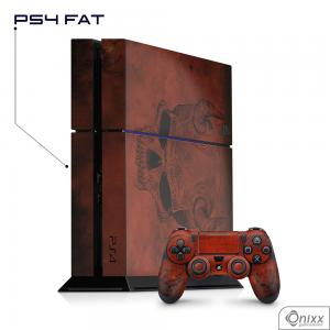 Skin Game Adesiva PS4 FAT Evil Skull Adesivo Vinil Americano 10µ  4x0 Brilho Corte Eletrônico