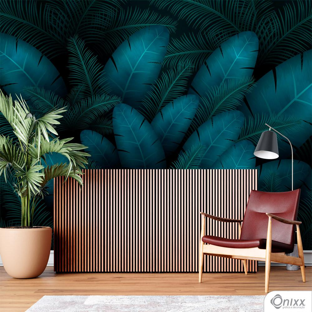 Painel Adesivo Folhagem Tropical